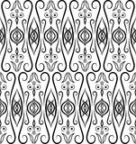 Eastern seamless pattern. Black and white Stock Image