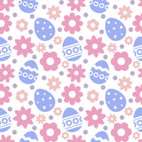 Eastern seamless pattern with eggs and flowers. Eastern seamless pattern with eggs and flowers stock illustration