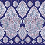 Eastern seamless pattern with ornamental flowers. Paisley elements. Ornament. Traditional, Ethnic, Turkish, Indian motifs. Great for fabric and textile Stock Images