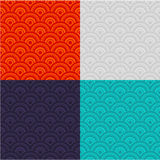 Eastern seamless pattern set Stock Images