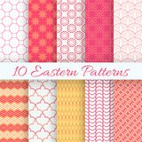 Eastern seamless pattern set. Vector illustration Royalty Free Stock Photography