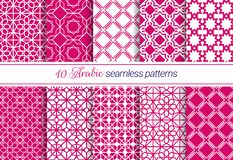 Eastern seamless patterns set. Islamic geometric background collection. Arabic texture.Vector luxury template ornamental design. R vector illustration