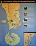 Eastern shore virginia national wildlife refuge map Stock Photo