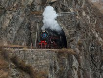 Old steam locomotive in the Circum-Baikal Railway Royalty Free Stock Photos