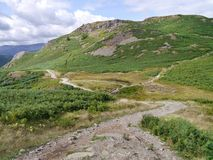 Eastern side of Loughrigg Fell, Lake District Stock Photography