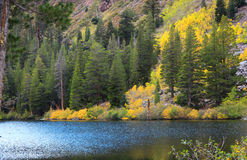 Eastern Sierra mountain lake. In autumn time Stock Photo