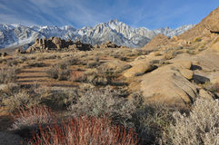 Eastern Sierra Nevada Mountains Stock Images
