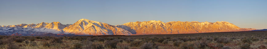 Eastern Sierra Sunrise Panorama Royalty Free Stock Image