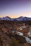 Eastern Sierra Vertical Sunset Stock Photography
