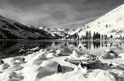 Eastern Sierra Winter Scene stock image