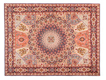 Eastern Silky Carpet. Classic Arabic Pattern Stock Photos