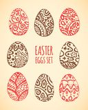 Eastern sketch eggs set. Vector illustration. Stock Photography