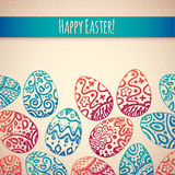 Eastern sketch eggs. Vector illustration. Royalty Free Stock Photography