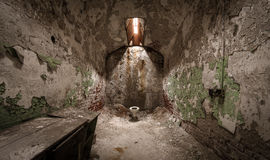 Eastern State Penitentiary. Abandoned cell at Eastern State Penitentiary Royalty Free Stock Images