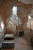 Eastern State Penitentiary. Cell in disarray with incoming window light stock photos