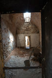 Eastern State Penitentiary. Cell in disarray with incoming window light royalty free stock images