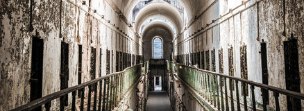 Eastern State Penitentiary Cell doors Stock Photos