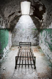 Eastern state penitentiary. Eastern state penitentiary in Philadelphia in Pennsylvania, America. A prison cell Stock Image