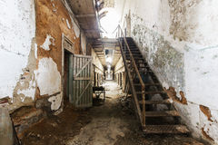 Eastern state penitentiary. Eastern state penitentiary in Philadelphia in Pennsylvania, America. Prison corridor Stock Photos