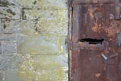 Eastern State Penitentiary Rusty door Royalty Free Stock Images