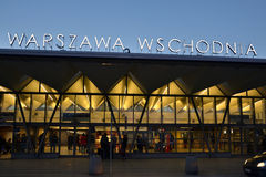 Eastern Station in Warsaw, Poland Stock Photo