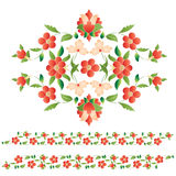 Elegant motifs. Eastern style beautifully drawn and colored pattern designs Royalty Free Stock Photography