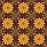 Eastern style floral tile seamless pattern Stock Image
