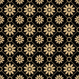 Eastern style luxury gold pattern Royalty Free Stock Images