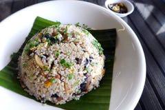 Eastern style Wild mushroom fried rice royalty free stock image