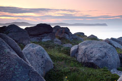 Eastern Sunset. Scenic view from Cape Spear in Newfoundland,Canada Royalty Free Stock Image