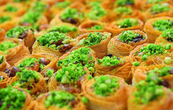 Eastern sweets, baklava Royalty Free Stock Image