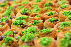 Eastern sweets, baklava Royalty Free Stock Photography