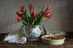 Eastern sweets `baklavadakia` close-up royalty free stock image