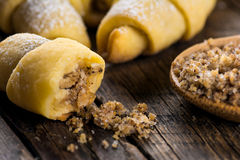 Eastern sweets. Biscuits with ground hazelnuts Royalty Free Stock Images