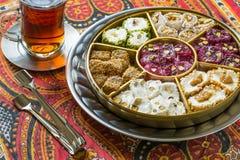 Eastern sweets. Turkish delight Rahat lokum Stock Image