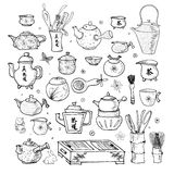 Eastern tea ceremony objects. Stock Image