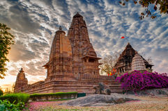Eastern Temples of Khajuraho, Madhyapradesh, India Stock Photos