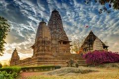Eastern Temples of Khajuraho, Madhyapradesh, India Stock Photos