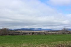 Eastern Townships Landscape stock image