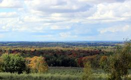 Eastern Townships Lansdcape. Eastern Townships Landscape in Early Fall in DUnham, Quebec royalty free stock photos
