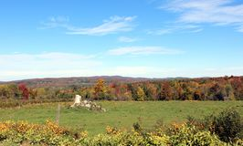 Eastern Townships Lansdcape. Eastern Townships Landscape in Fall in Quebec royalty free stock photos