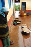 Eastern Uganda. Coffee being rain rinsed in Kapchorwa Uganda Stock Photos