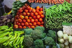Eastern vegetable Market. In Asia Stock Photos