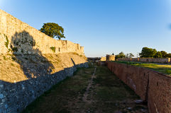 Eastern wall of Kalemegdan fortress, Belgrade Royalty Free Stock Image
