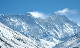 Eastern wall of Mount Everest Royalty Free Stock Photo
