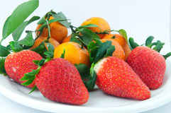 Eastern and Western Fruits Royalty Free Stock Photography
