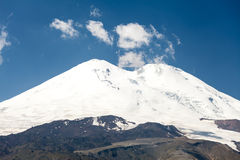Eastern and western peaks of Elbrus Stock Photo