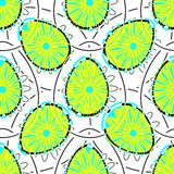 EasterPattern6. Big and small eggs with flowers on the white background. Vector illustration. EPS10 Royalty Free Stock Photo