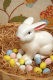 Easters Eggs with Bunny Stock Photos