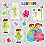 EasterStickersBoy Royalty Free Stock Image